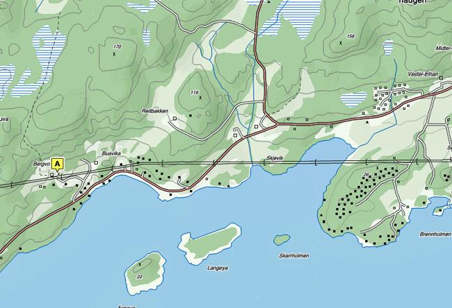 Bergvoll ligger i Steinkjer Kommunes vakreste fritidsområde her i Sør-Beitstad